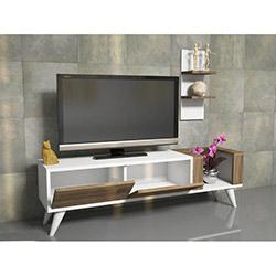 House Line Pers Tv Ünitesi - Beyaz / Teak
