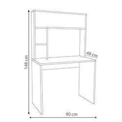 House Line 819248 Eko-Line Arka Panelli Çalışma Masası - Beyaz
