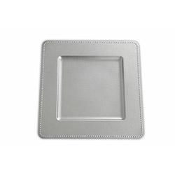 Kanca Ev 6'lı Kare Kenarı Toplu Supla - Gümüş