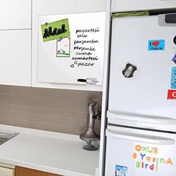 Secret Mıknatıslı Yazı Tahtası (Beyaz) - 35x35 cm
