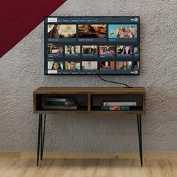 Fly Metal Ayaklı Tv Sehpası - Ceviz
