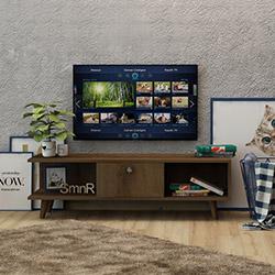 Fly Çekmeceli Raflı Tv Sehpası - Safir Meşe