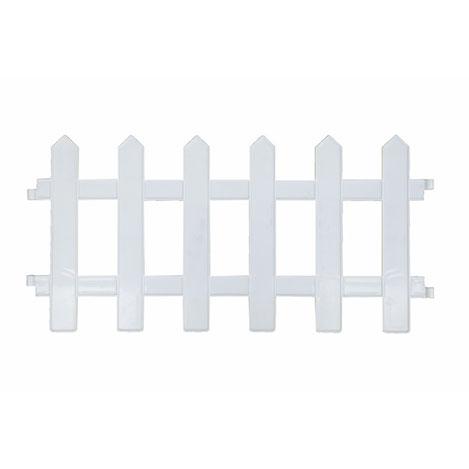 Resim  Agromak WS7011 Plastik Bahçe Çiti (Beyaz) - 46x25 cm