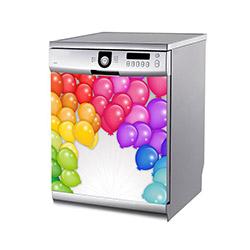Artikel BS-210 Renkli Balonlar  Bulaşık Makinesi Sticker - 60x60 cm