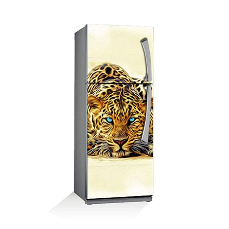 Artikel BS-040 Leopar Buzdolabı Sticker - 70x180 cm