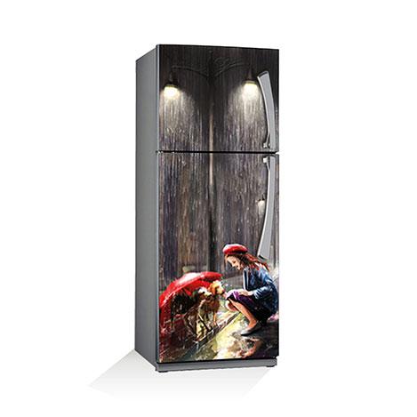 Artikel BS-076 Yağmurun Elleri Buzdolabı Sticker - 70x180 cm