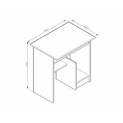 House Line Ninfa Bilgisayar Masası - Cordoba