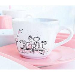 Keramika Tatlı Düş 14 Parça Kösem Seramik Kahvaltı Seti