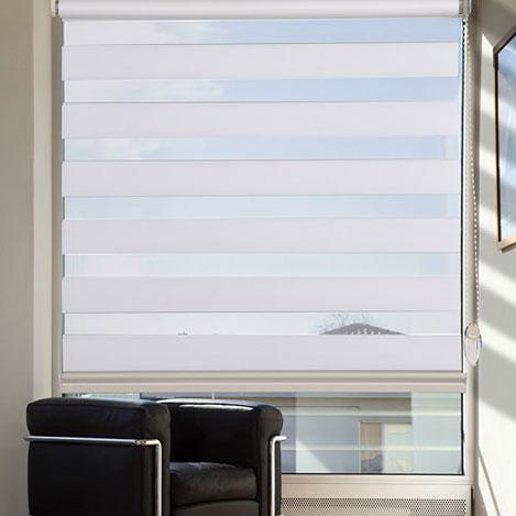 Resim  Platin Plise Zebra Perde (Beyaz) - 60x200 cm