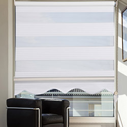 Platin Plise Zebra Dilimli Perde (Beyaz) - 60x200 cm