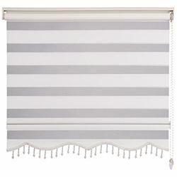 Platin Basic Zebra Boncuklu Perde (Ekru) - 180x200 cm