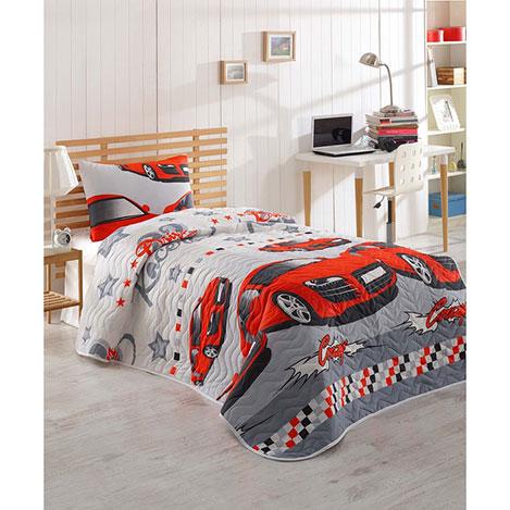 Eponj Home Crazy Tek Kişilik Yatak Örtüsü Takımı - Kırmızı