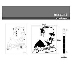 Artikel Atatürk-6 Kadife Duvar Sticker - 47x51 cm
