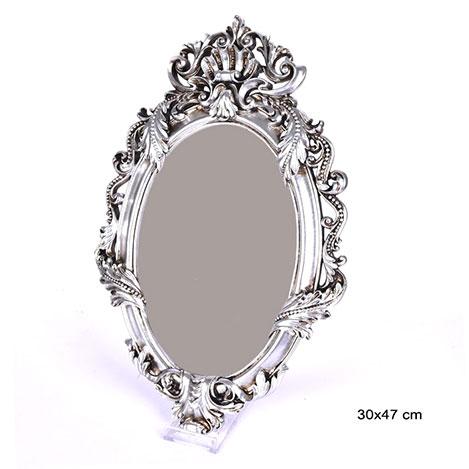 Resim  Ubihome Saray Polyester Ayna (Gümüş) - 30x47 cm