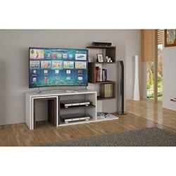 House Line Dila Zigonlu Kitaplıklı Tv Ünitesi - Beyaz /  Ceviz