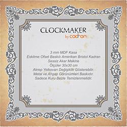 Clockmaker By Cadran CMM188 Mdf Duvar Saati - 30x30 cm