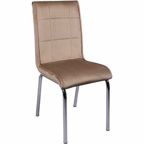 Resim  Kristal Monopetli Kumaş Sandalye - Vizon