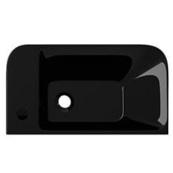 Lucco Prımo Asma Monoblok Lavabo (50 cm) - Parlak Siyah