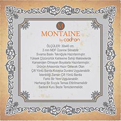 Montaine By Cadran MT183 Mdf Tablo - 30x40 cm