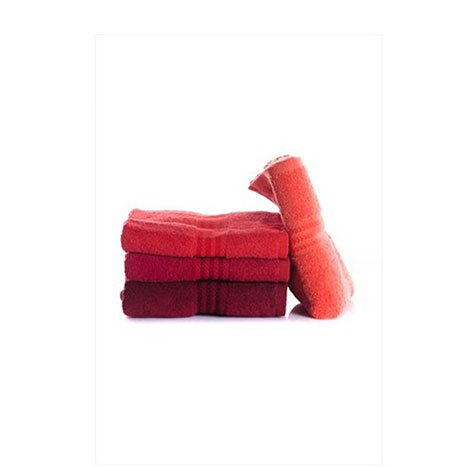 Resim  Hobby 4'lü Havlu Seti - Kırmızı