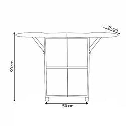 House Line Dolaplı Katlanabilir Ütü Masası - Beyaz / Renkli