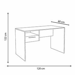 Adore Concept Kilitli Çekmeceli Çalışma Masası - Noce / Lake Beyaz