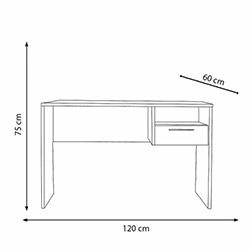 Adore Concept Kilitli Çekmeceli Çalışma Masası - Lake Beyaz
