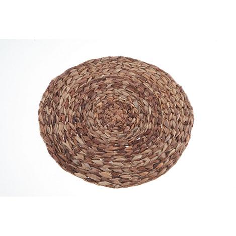 Resim  Kanca Ev Hasır Yuvarlak Amerikan Servis (Kahverengi) - 38,5 cm