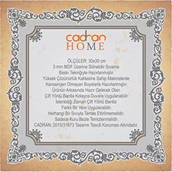 Cadran Home CHTT235 Mdf Tablo - 30x30 cm