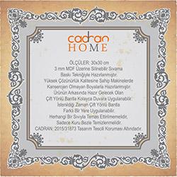 Cadran Home CHTT408 Mdf Tablo - 30x30 cm
