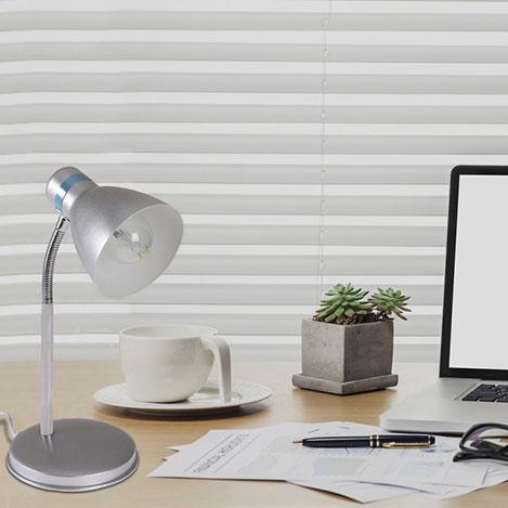 Safir Light Modern Krom Spiralli Masa Lambası - Gri