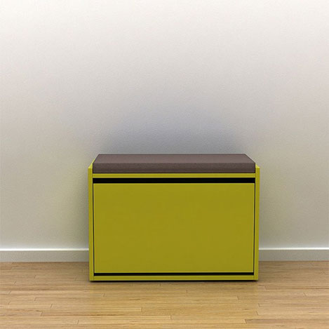 Resim  Adore Step Oturaklı Ayakkabılık ve Puf - Yeşil