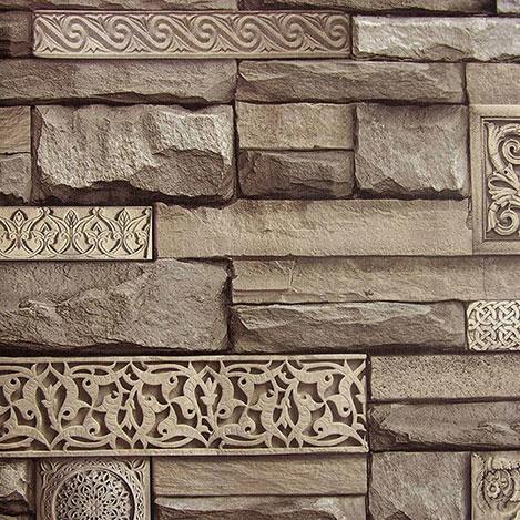 Dekor 105c Taş Desenli Duvar Kağıdı (5 m²)