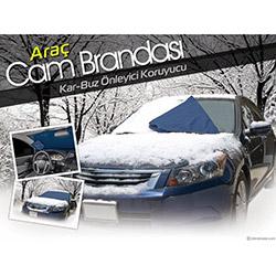 Emka Araç Ön Camı Kar Ve Buz Önleyici Branda - Asorti