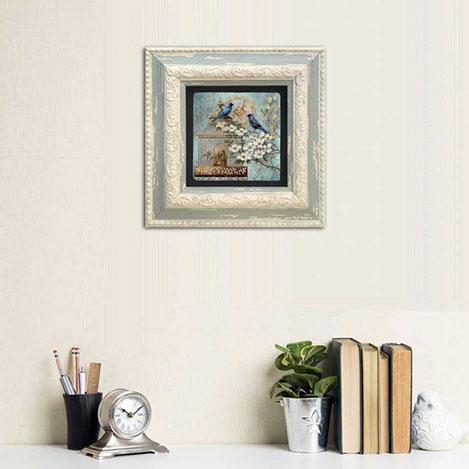 Oscar Stone Decor CDD-10-049 Çerçeveli Taş Duvar Panosu - 20x20 cm