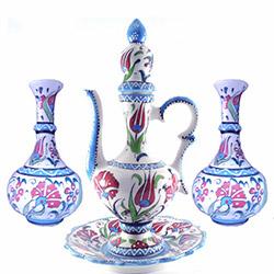 Oğuz Çini DMPRY579 İbrik ve Vazo Seti