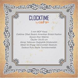 Clocktime By Cadran CTM7 Duvar Saati - 30x30 cm