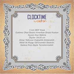 Clocktime By Cadran CTM50 Duvar Saati - 30x30 cm