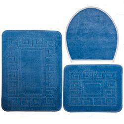 Confetti Ethnic 3'lü Klozet Takımı - Mavi