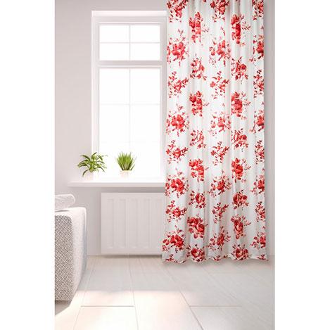 Premier Home Fon Perde (Kırmızı) - 130x270 cm