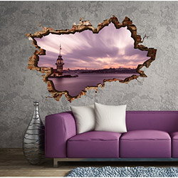 3d Art TDS-1068 Duvar Sticker - 70x45 cm