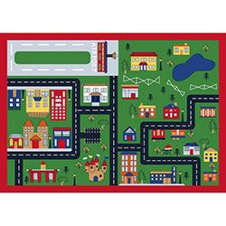 Confetti Town Bukle Çocuk Halısı (Yeşil) - 100x150 cm
