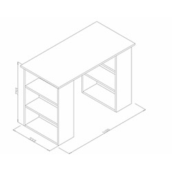 House Line Perla Çalışma Masası - Venezia / Beyaz