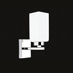 Elit 2450-1A Tekli Aplik - Krom / Beyaz