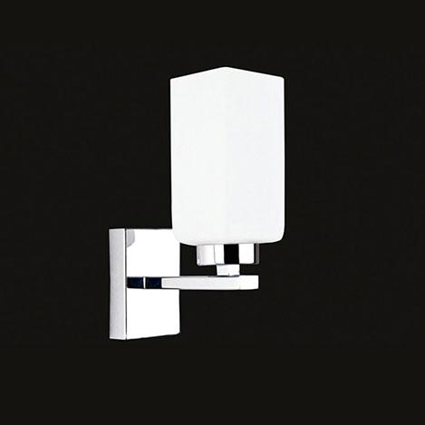 Resim  Elit 2450-1A Tekli Aplik - Krom / Beyaz