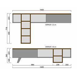 House Line Romeo Tv Ünitesi - Ceviz / Beyaz