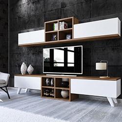 House Line Paris Tv Ünitesi - Ceviz / Beyaz
