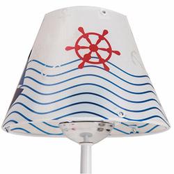 Nisa Luce Denizci Abajur - Beyaz / Renkli