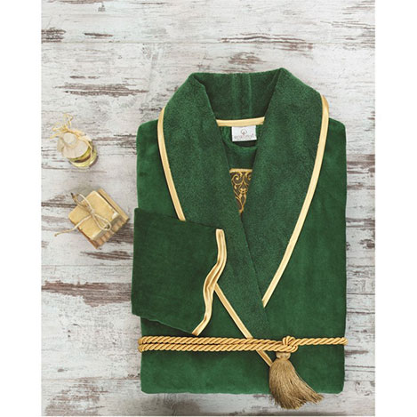 Ecocotton Arus Bayan Bornoz (Yeşil) - L Beden