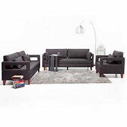 Evdebiz Comfort Yaşam Serisi Koltuk Takımı (3+2+1) - Gri